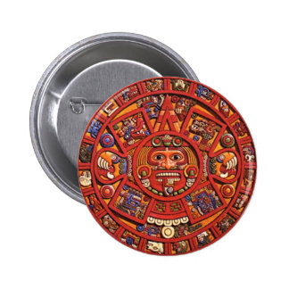 Mayan Calendar 6 Cm Round Badge