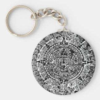 Mayan Calendar Black Key Chains