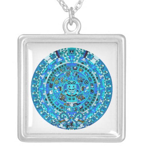 Mayan Calendar, ending in 2012 Custom Necklace