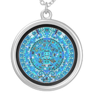 Mayan Calendar, ending in 2012 - Silver Necklace