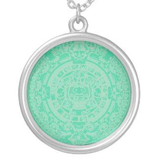 Mayan Calendar Etching Necklace