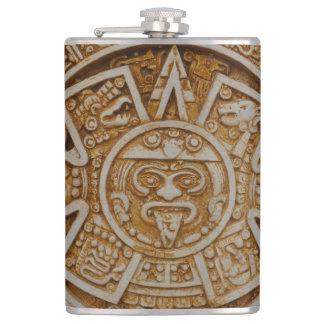 Mayan Calendar Hip Flask
