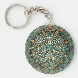 Mayan Calendar Basic Round Button Key Ring