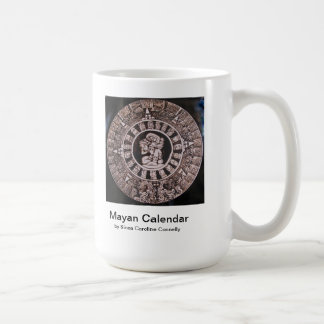mayan calendar basic white mug