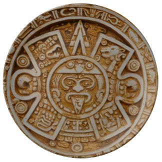 Mayan Calendar Porcelain Plates