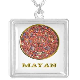 Mayan Calendar products Square Pendant Necklace