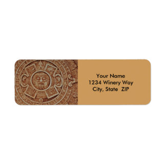 Mayan Calendar Return Address Label