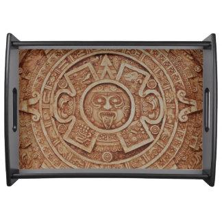 Mayan Calendar Serving Tray