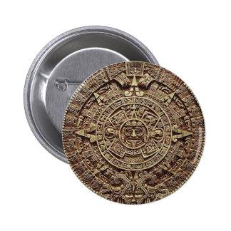 Mayan Calendar Stone 12.21.2012 Pinback Button