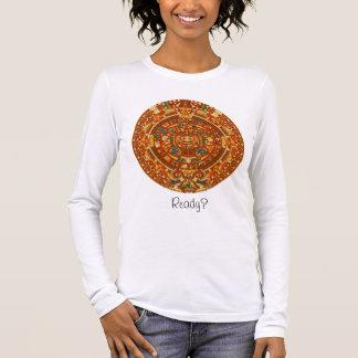 'Mayan Calendar Stone' Long Sleeve T-Shirt