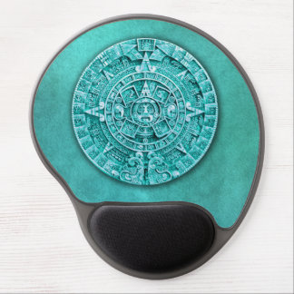 Mayan Calendar (Turquoise) Gel Mouse Pad