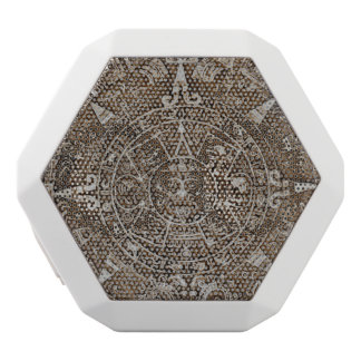Mayan Calendar White Bluetooth Speaker