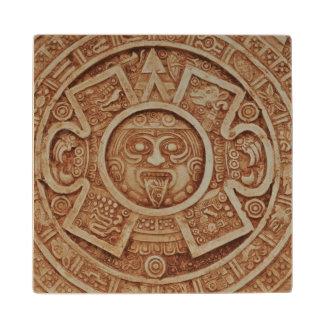 Mayan Calendar Wood Coaster