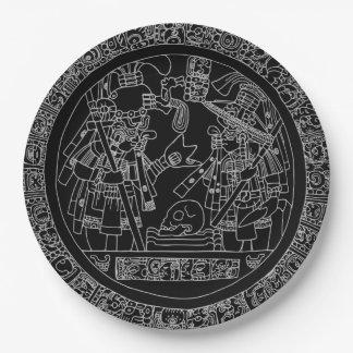 Mayan Circle Paper Plate