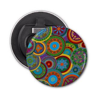 Mayan Circle Pattern Background Bottle Opener