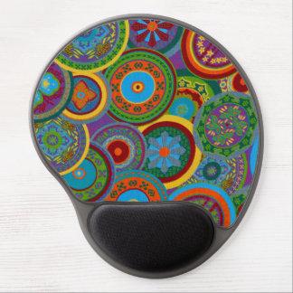 Mayan Circle Pattern Background Gel Mouse Pad