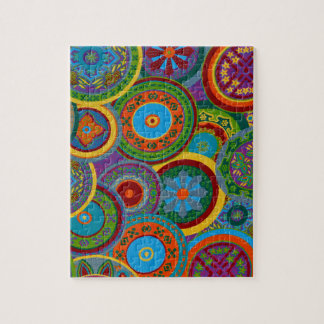 Mayan Circle Pattern Background Jigsaw Puzzle