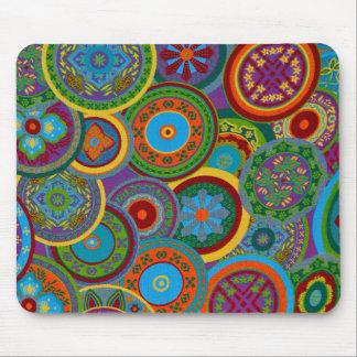 Mayan Circle Pattern Background Mouse Pad