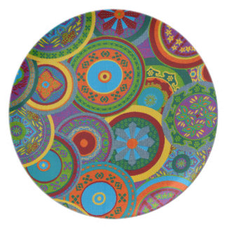 Mayan Circle Pattern Background Plate