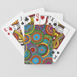 Mayan Circle Pattern Background Playing Cards