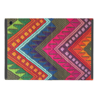 Mayan colorful textile pattern iPad mini case