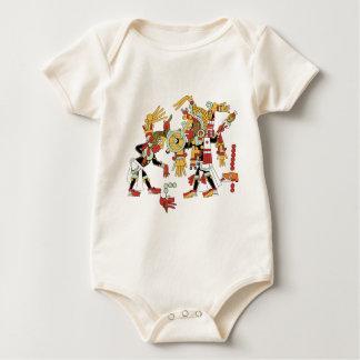 Mayan culture design baby bodysuit