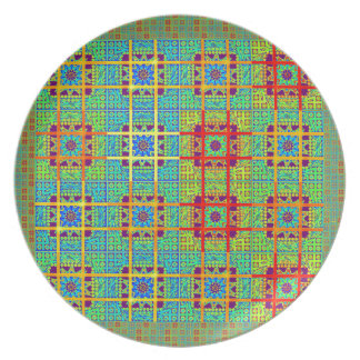Mayan ethnic tribal pattern.jpg party plates