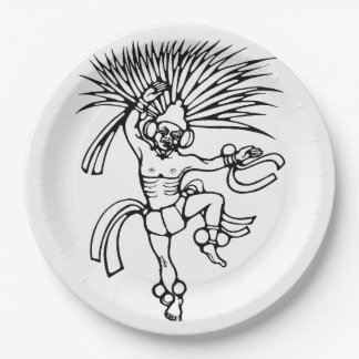 Mayan feather dancer - Amazing Mexico Plate