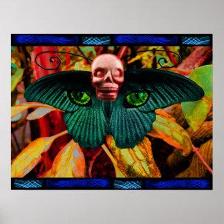 Mayan Feline Metamorphosis Poster