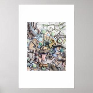 Mayan Future (Colored Pencil) Poster