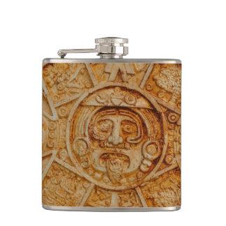 Mayan God Calendar Hip Flask