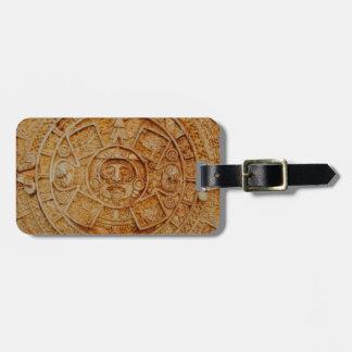 Mayan God Calendar Luggage Tag