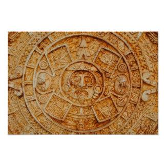 Mayan God Calendar Photo Print