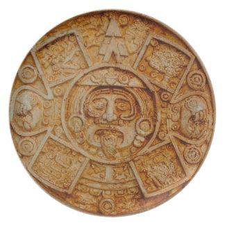 Mayan God Calendar Plate