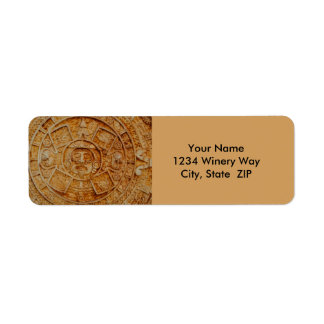 Mayan God Calendar Return Address Label