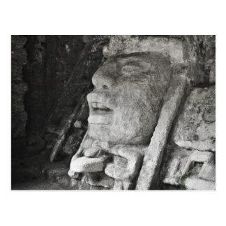 Mayan God Temple Belize Postcard