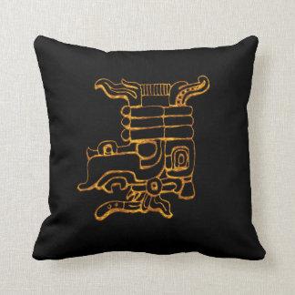 Mayan Gold Hieroglyphs Cushion