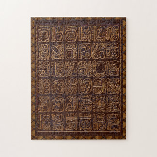 Mayan Hieroglyphics Panel Folk Art Jigsaw Puzzle