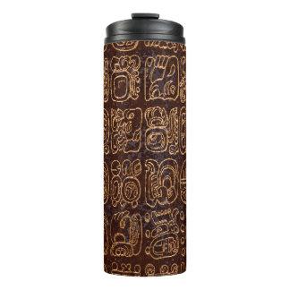 Mayan Hieroglyphics Panel Folk Art Thermal Tumbler