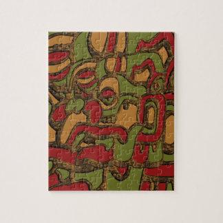 Mayan Hieroglyphs Design Jigsaw Puzzle