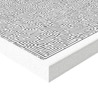 Mayan I Maze Art by Blaise Gauba Canvas Print