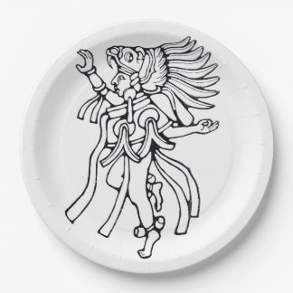 Mayan jaguar dancer - Dancer Plate