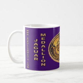 MAYAN JAGUAR MEDALLION-PURPLE- MAYAN GOLD COAST COFFEE MUG