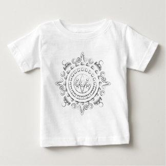 Mayan Mandala - Charcoal Sketch Baby T-Shirt