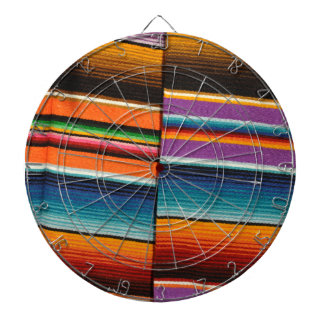 Mayan Mexican Colorful Blankets Dartboard