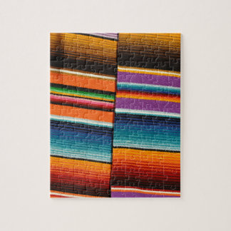 Mayan Mexican Colorful Blankets Jigsaw Puzzle