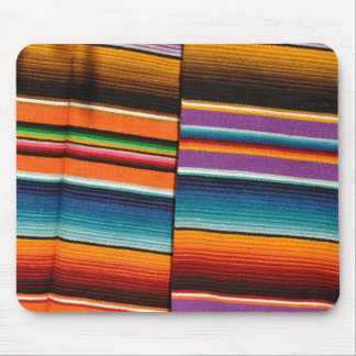 Mayan Mexican Colorful Blankets Mouse Pad
