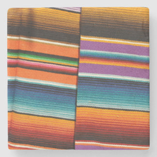 Mayan Mexican Colorful Blankets Stone Coaster