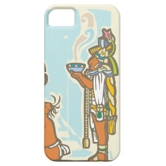 Mayan Priest Sacrifice and Pyramid iPhone 5 Cover