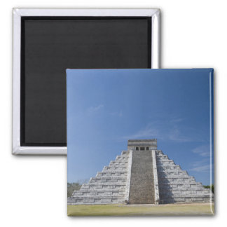 Mayan Pyramid, Morning in March Square Magnet